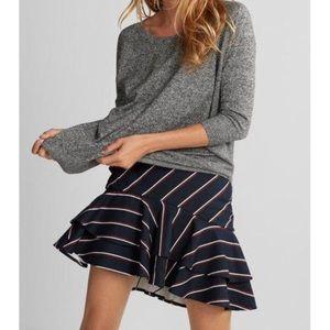 EXPRESS tiered ruffle stripe skirt